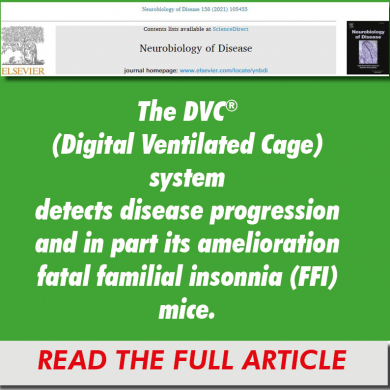 The DVC® (Digital Ventilated Cage) system detects disease progression and in part its amelioration fatal familial insonnia (FFI) mice