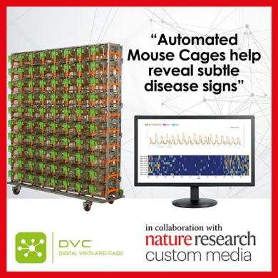 DVC®, the cage of the future! Opens doors to new scientific discoveries, delivering big data and lets scientists monitor animals' activity, food and water availability and other parameters 24/7